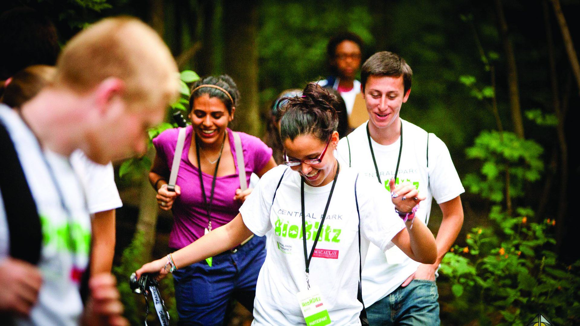 Bioblitz, a Macaulay seminar event, at Central Park