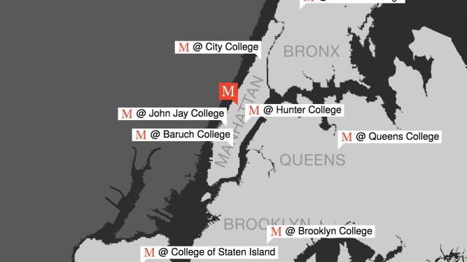 Macaulay at CUNY Map
