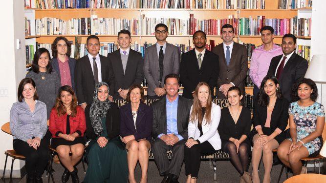 Meyer Scholars with Miraldina and Tony Meyer 2016