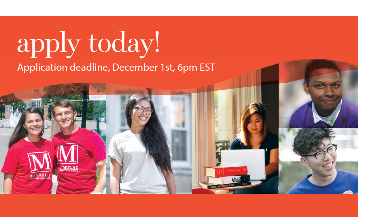 Apply today! Application deadline, December 1st, 6pm EST