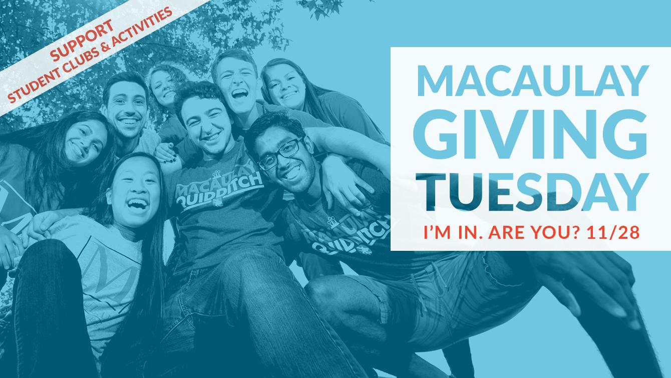 Macaulay Giving Tuesday - NOV 28