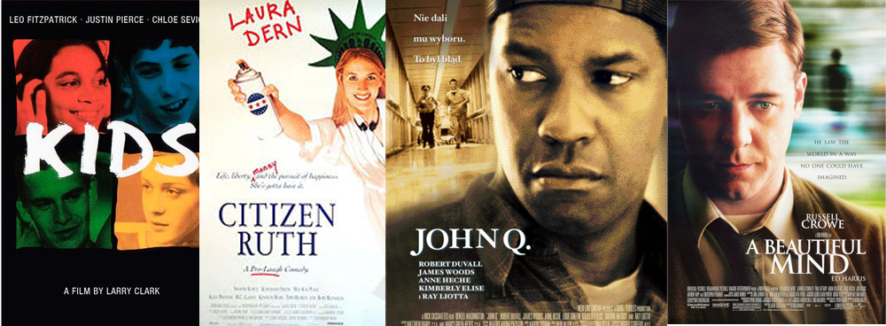 Movie posters from films on the syllabus