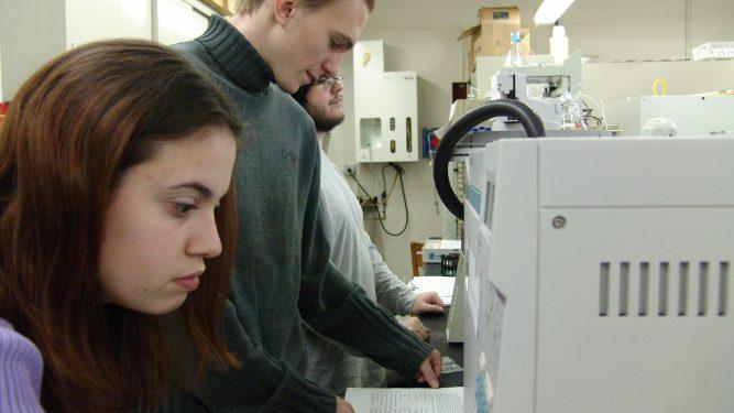 Student Daniel Gurdak in Lab