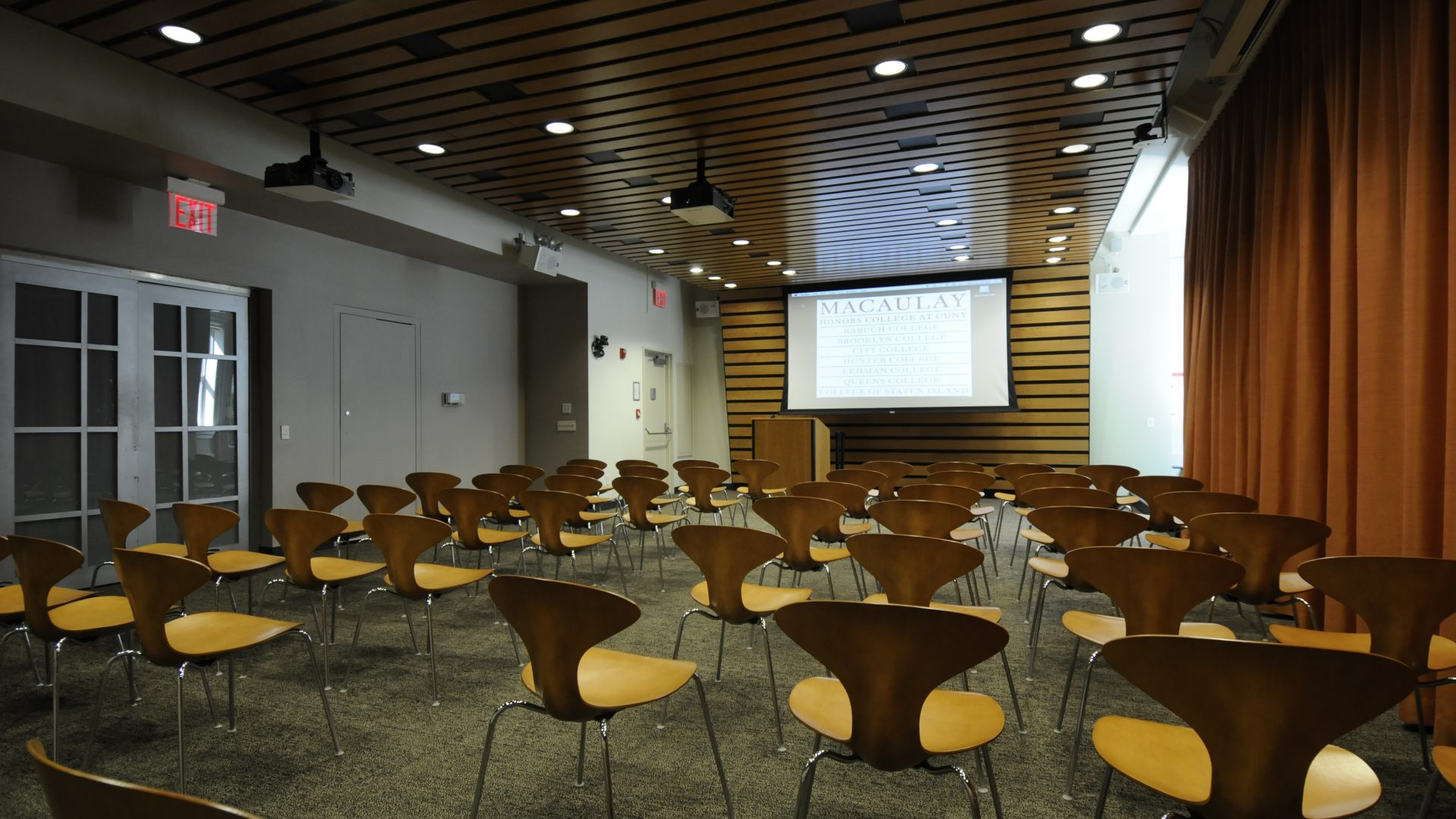 Photo of the Macaulay Lecture Hall