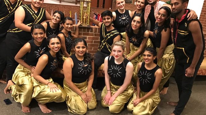 Macaulay Deewane dancers, a student-led Bollywood dance group.