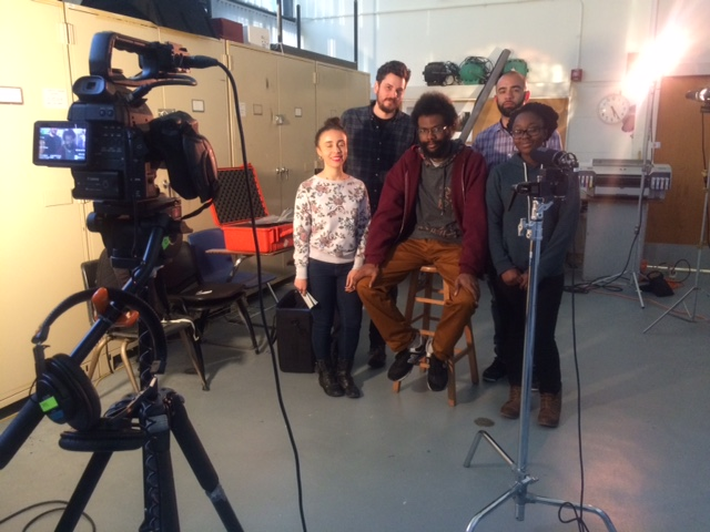Macaulay New Media Lab students at Lehman College