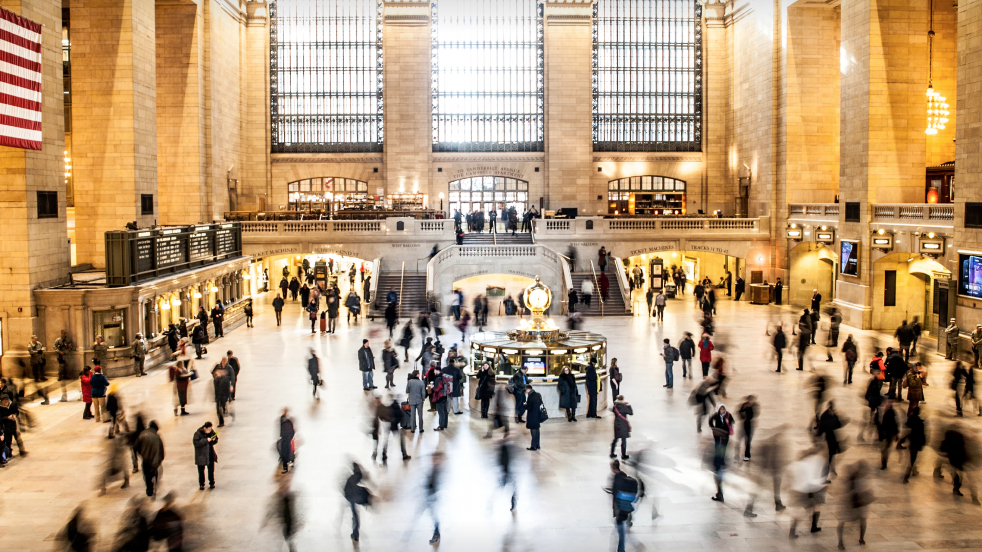 Photo of New Yorkers in Grand Central