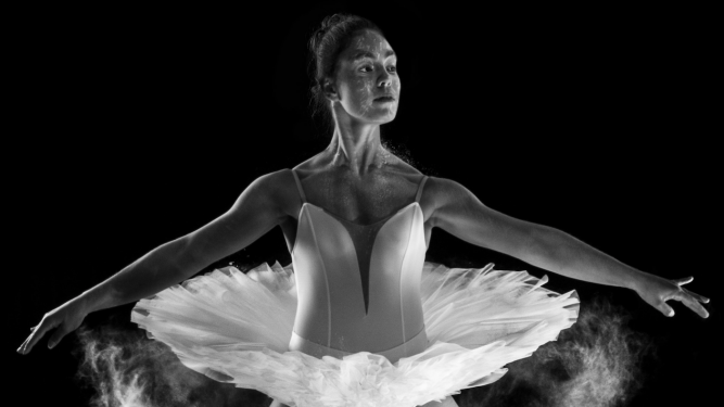 Photo of a ballet dancer