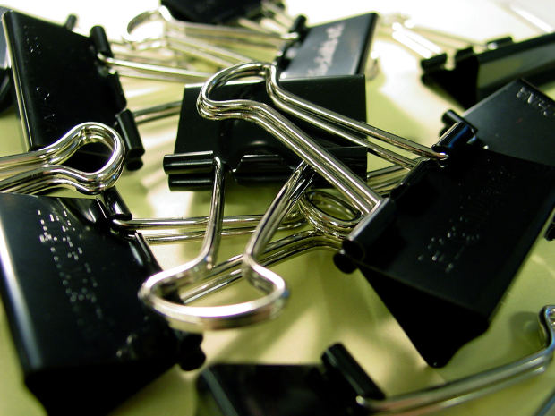 Binder clips stock photo