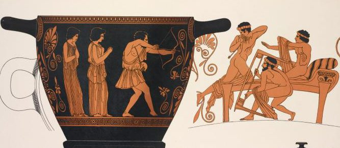 "Book illustration ""Odysseus Killing the Suitors"""