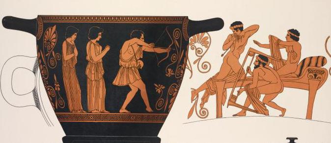 "Book illustration ""Odysseus Killing the Suitors"""