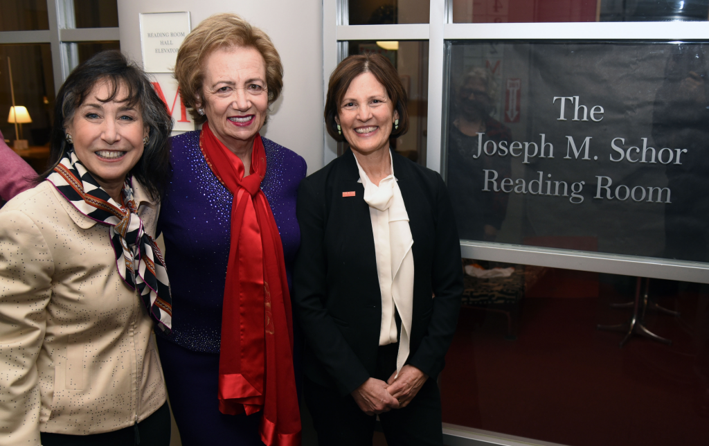 Dedication of Joseph M. Schor Reading Room with Emeritus Deans Kushner and Schor, and Dean Pearl.