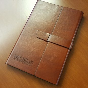 First 15 students to arrive for the fair will receive a free Macaulay padfolio.