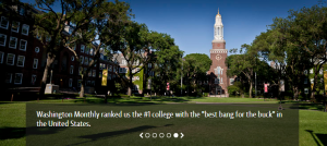 "Washington Monthly ranked Brooklyn college the number one college with the ""best bang for the buck"" in the United States"