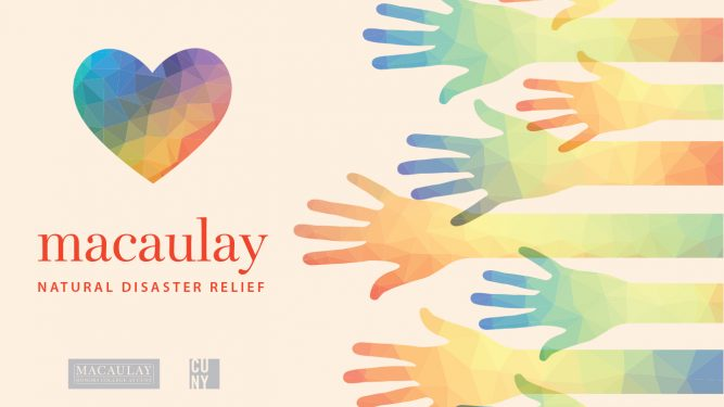 Macaulay Natural Disaster Relief banner