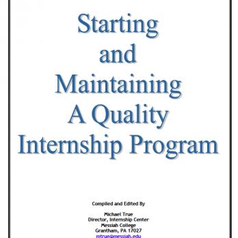 Starting Internship Program title page
