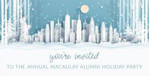 Alumni Holiday Party Dec 11, 2018