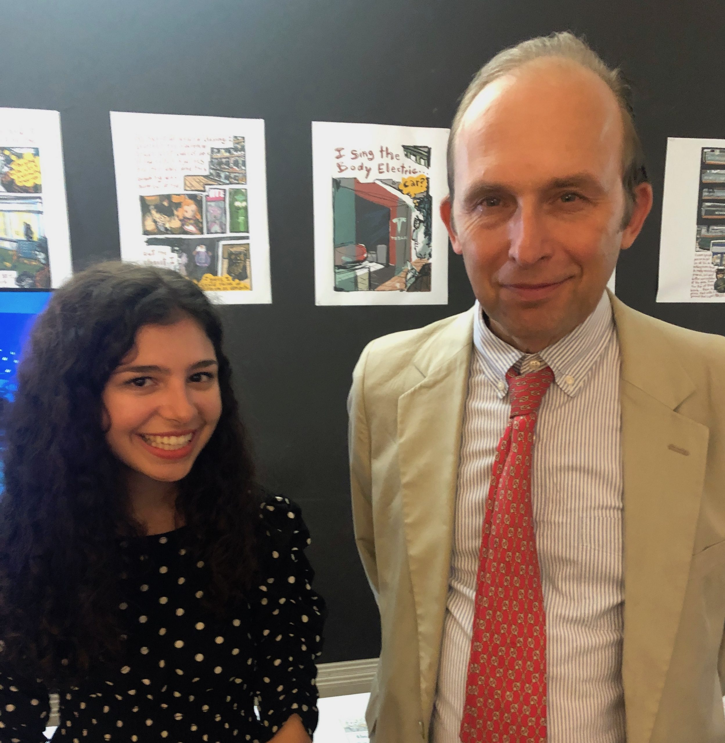 Distingushed Professor Ted Widmer with student Carina D'Urso '22