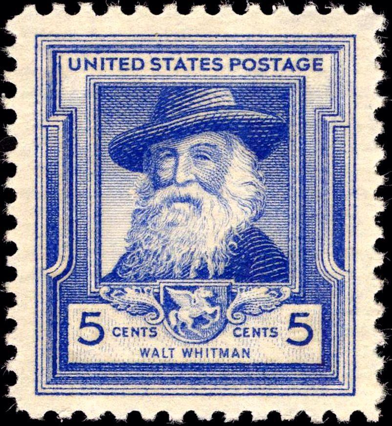 U.S. postage with Walt Whitman