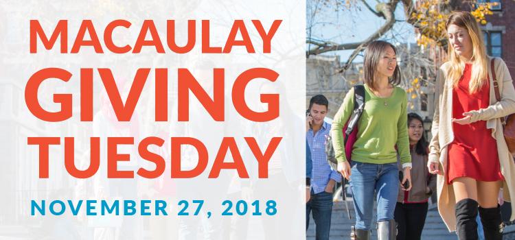 Macaulay Giving Tuesday