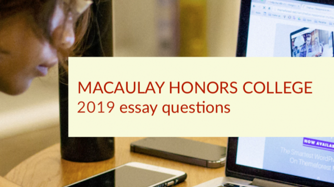 Macaulay honors college essay