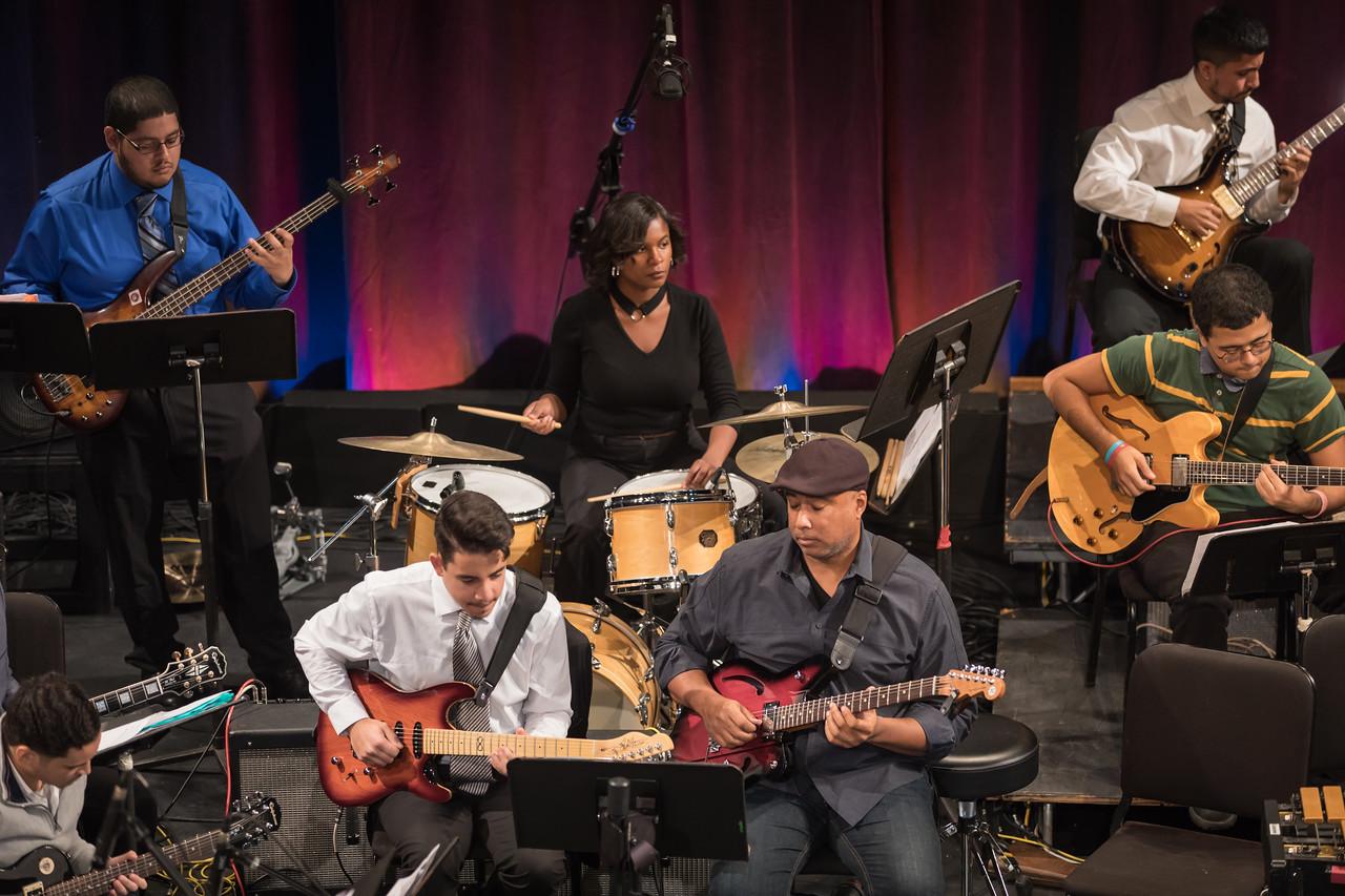 Victoria Smith '20 with the Lehman Jazz Ensemble
