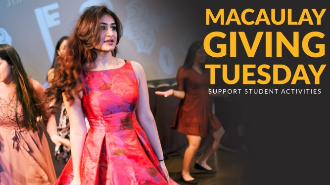 Macaulay Giving Tuesday 2019: Support Student Activities