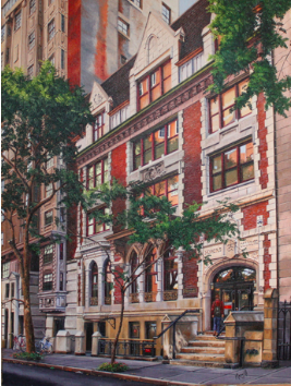 Original Oil Painting of Macaulay Honors College