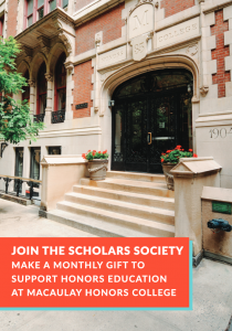 If you prefer to give by phone, please call212.729.2942 Thanks for supporting Macaulay's community of Honors Scholars!