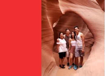 Aileen Wai family photo Antelope Canyon, AZ